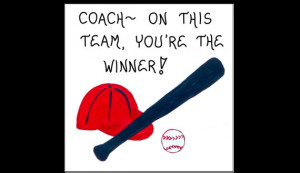 Magnet - Baseball Coach - Sports Team leader, thank you gift, Quote ...