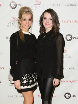 These 2 ladies from Downton Abbey. Joanne Froggatt and Sophie McShera