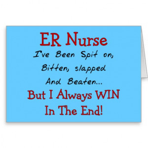 Funny ER Nurse T-Shirts and Gifts Cards