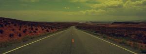 Vintage Old Desert Road Facebook Cover