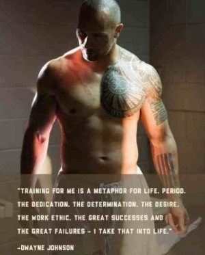 Dwayne Johnson quote motivation gym