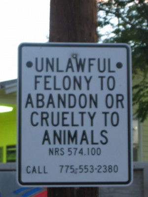 hmmm.. they should have signs like this for deadbeat parents.