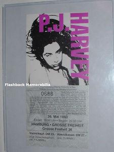 HARVEY Unused 1993 Concert PICTURE Ticket HAMBURG GERMANY Rid Of