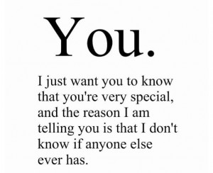 cute, love, phrases, quotes, special, you, tpobaw, you're special ...