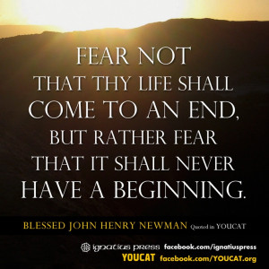 ... that it shall never have a beginning.