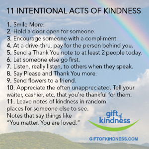 Here are 11 ways to spread kindness in an intentional way!