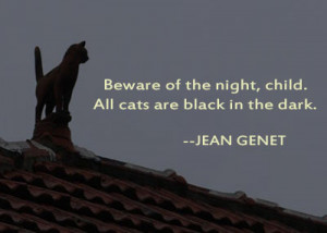 Cats are like Baptists. You know they raise hell, but you can never ...