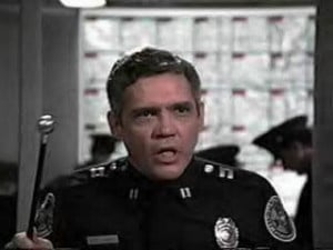 Harris or Mauser on the Police Academy movies? (scene, classic)