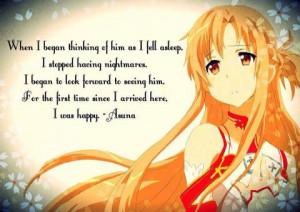 Asuna Sword Art Online Anime quotes