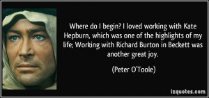 More Peter O'Toole Quotes