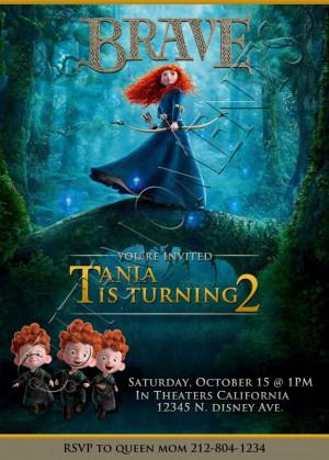 Disney Brave Merida Personalized Birthday Party