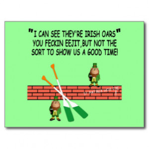 Funny Irish leprechauns Postcard