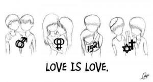 Zeichnung 'Love is love'. Von wem?