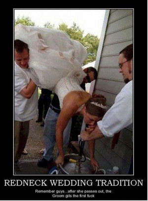 Redneck wedding tradition
