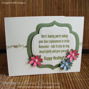 Today I am sharing a card with you using Knee Replacement Get Well ...