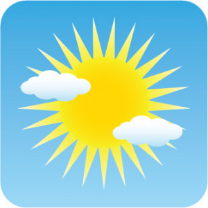 Mostly sunny. Hot, Humid. Temperature of 30°C. Winds NNW 15km/h ...
