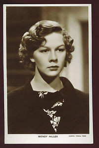 WENDY HILLER MOVIE ACTRESS PICTUREGOER 1234 REAL PHOTO RPPC c 1940s