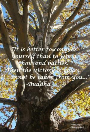 Buddha quote. Conquer yourself. Inspiration :: selenasingh.com #buddha ...