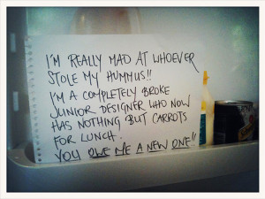 15 Funny Notes Left In The Office Fridge