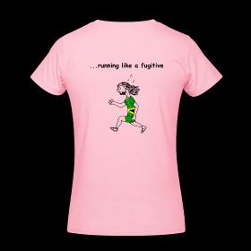 Funny Running T-shirt - Rastaman Running (Women's) ~ 454