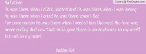 daddy's girl Profile Facebook Covers
