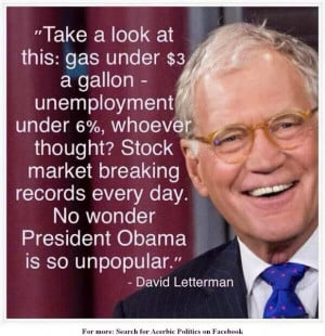 David Letterman is as confused as I am