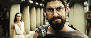 ... of King Leonidas , as portrayed by Gerard Butler, from