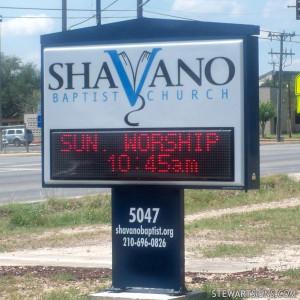 Church Sign for Shavano Baptist Church - Photo #2548