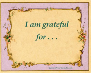 am grateful for.....