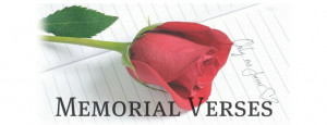 Memorial Verses for Headstones and Memorial Plaques