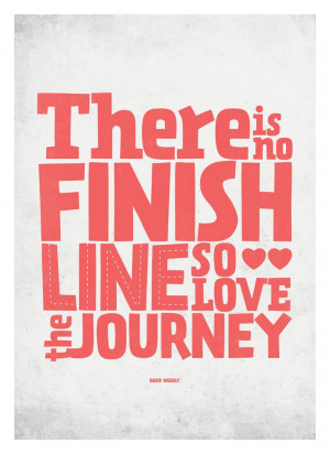 Inspirational Life Quote poster - Love the Journey - typography wall ...