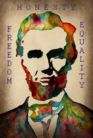 Abraham Lincoln Leader Qualities Painting