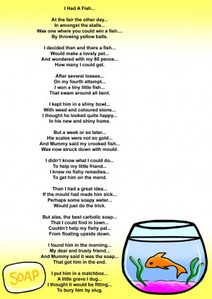 Fishy Poem Print by Slinkers