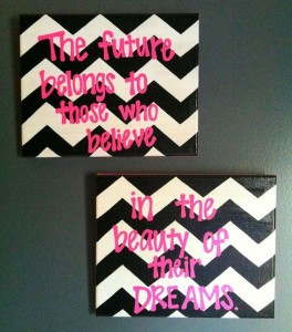 Pink-Double-Canvas-Quote-Painting-Chevron-and-Pink-Double-Canvas-Quote ...