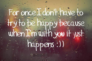 im happy without you quotes