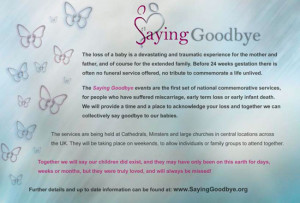 Saying goodbye after losing a baby
