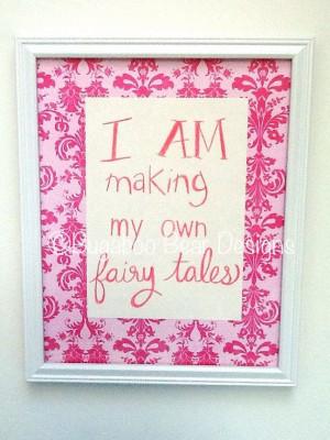 Princess Quote Art nursery girl's room fairy by BugabooBearDesigns, $ ...