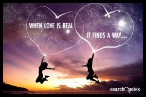 When love is real, it finds a way.