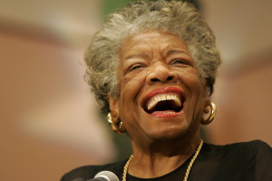 Poet Maya Angelou's heart sings for health care at UAB event