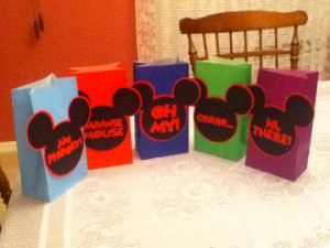 Cute Mickey Mouse Sayings Party Goody Bags