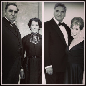 Split Screen: Downton Abbey's Mr. Carson (Jim Carter) & Mrs. Hughes ...