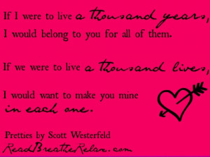 Love Quotes From Young Adult Books Read Breathe Relax