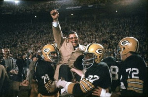 ... . Lombardi led the Packers to victory in the first two Super Bowls