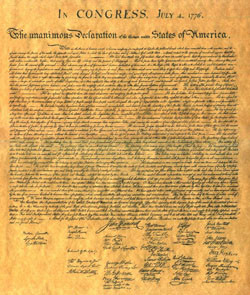 declaration of independence benjamin franklin