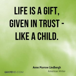 Anne Morrow Lindbergh Trust Quotes