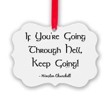 QUOTE Picture Ornament for