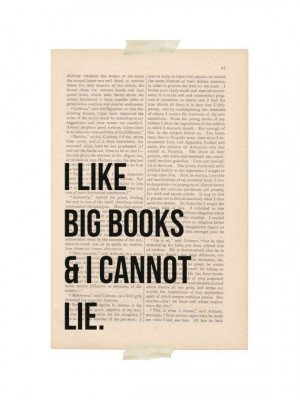 ... art print I Like BIG BOOKS and I Cannot LIE funny quote book poster