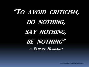 Inspirational-Life-Quotes-Avoid Criticism - Hubbard