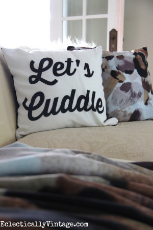 Let's Cuddle pillow - free download to create your own ...