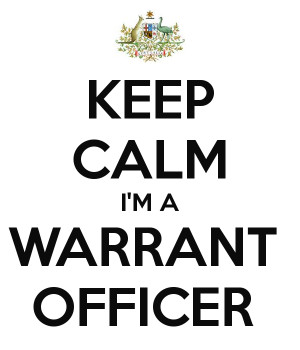 KEEP CALM I'M A WARRANT OFFICER